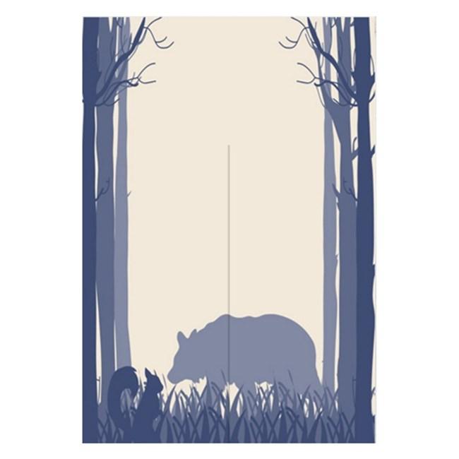 【Loviisa 松鼠與熊】開運棉麻門簾 窗簾 韓版風水簾 送伸縮桿85x120cm