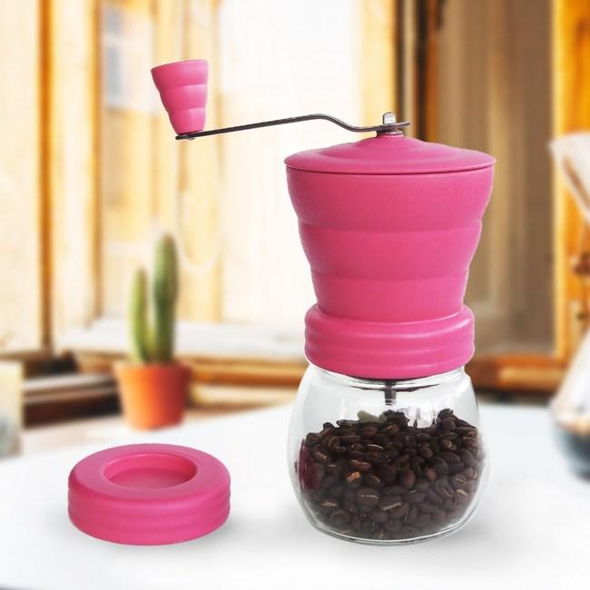 A-IDIO 雲朵手搖磨豆機(粉色)送咖啡豆匙