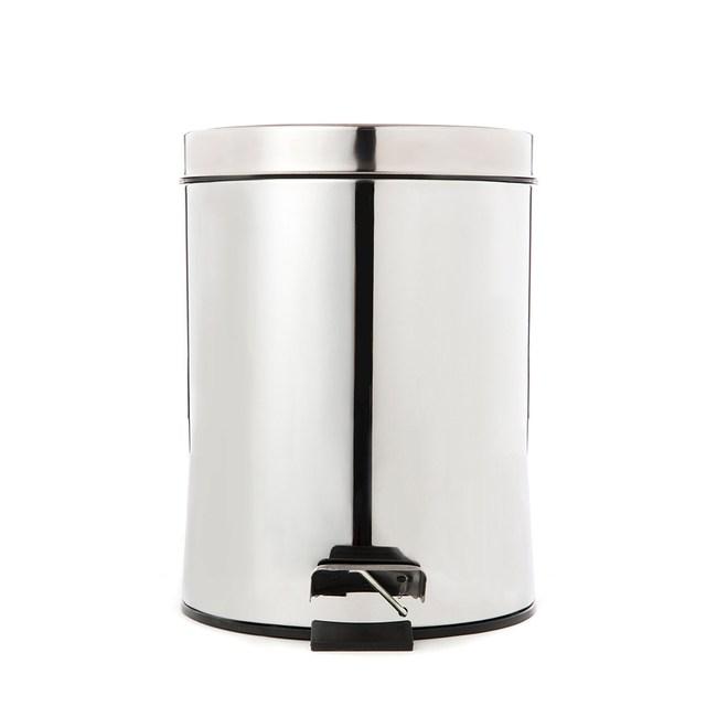 踏式垃圾桶5L-不鏽鋼