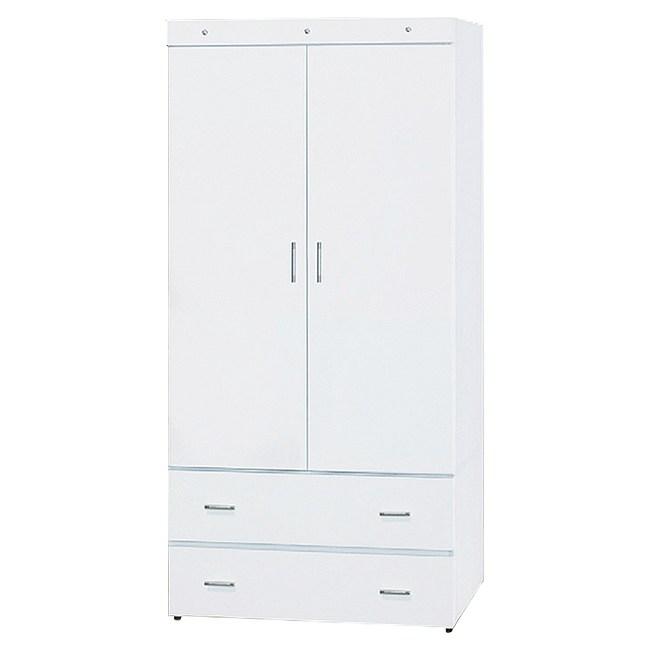 【YFS】艾富裏3尺白色衣櫥-80.1x57x174cm