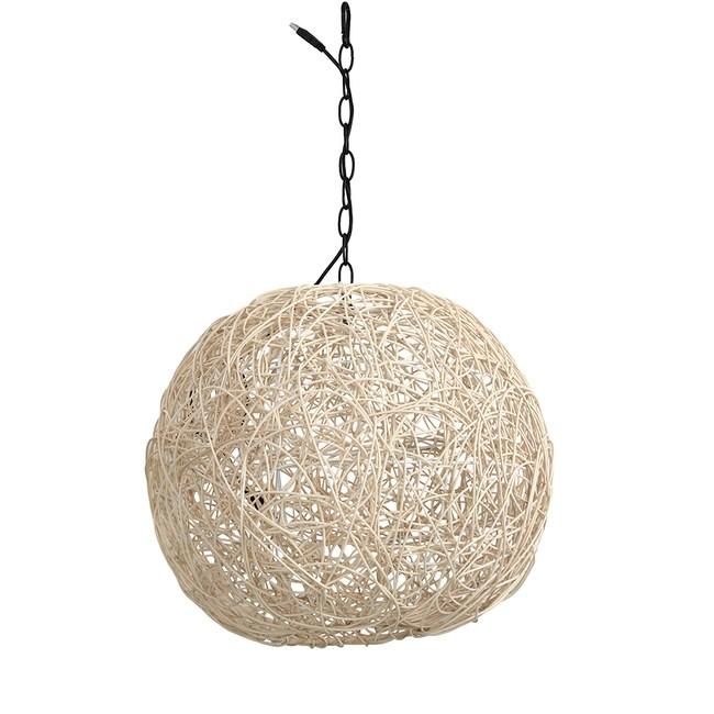 星星USB竹籐球吊燈