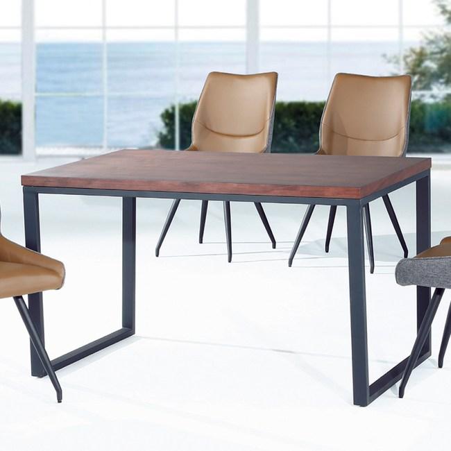 【YFS】柏格胡桃4.3尺餐桌-130x80x75