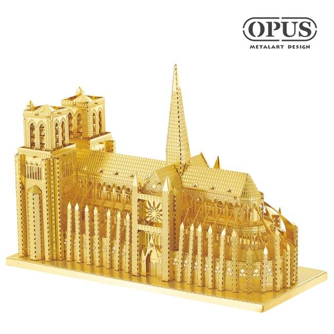 OPUS 3D立體金屬拼圖/益智DIY建築模型(巴黎聖母院)