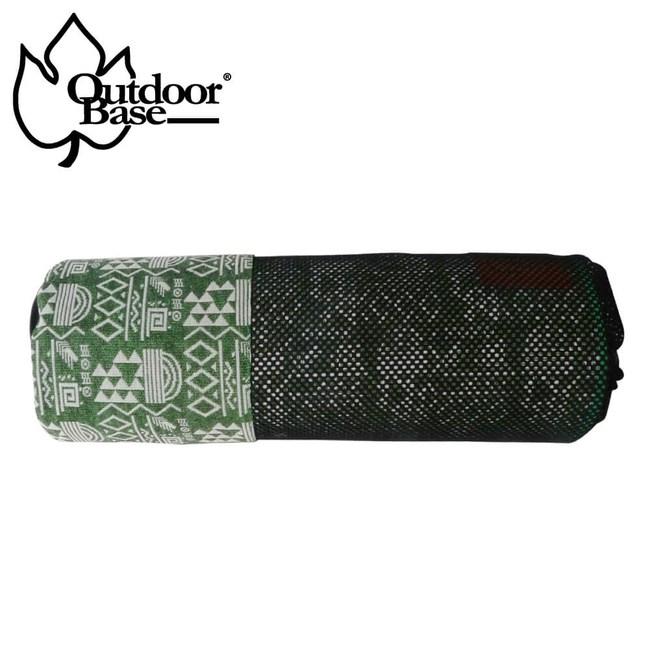 【Outdoorbase】漾彩防水桌布 (綠色幾何)