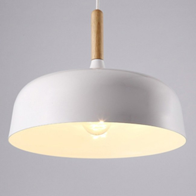 HONEY COMB 北歐風經典木質調單吊燈 雙色款 白色 TA8384