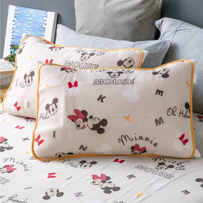HOLA 迪士尼系列 米奇米妮 涼感透氣保潔墊 枕用 二入