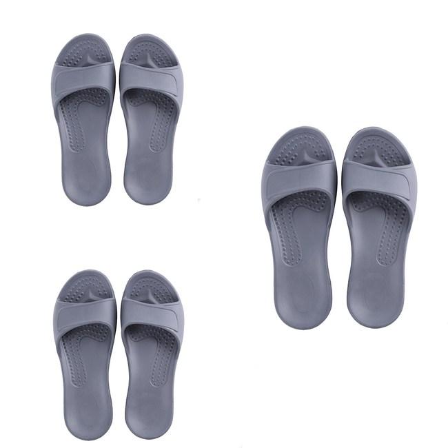 (組)EVA柔軟室內拖鞋 墨灰 M.L.XL