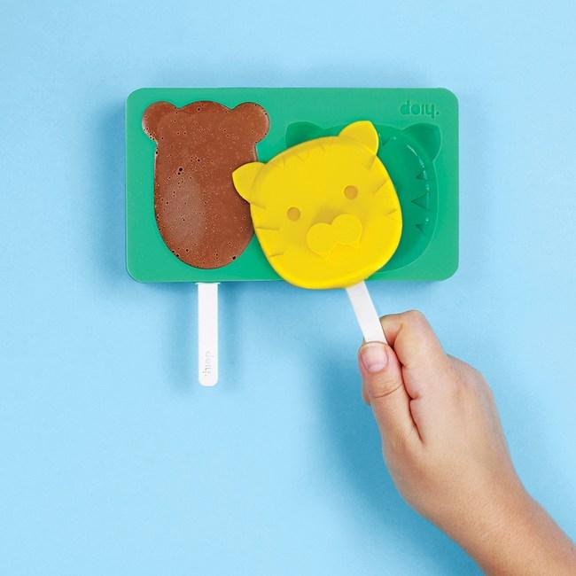 DOIY 動物園冰棒盒(大熊小虎)