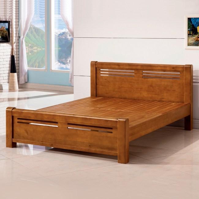 【YFS】米路實木6尺雙人加大床架-185x206.5x89cm