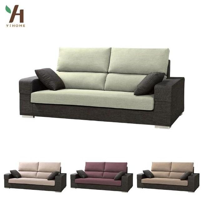 【伊本家居】法蘭西 布三人沙發(4色可選) 青果綠 6302