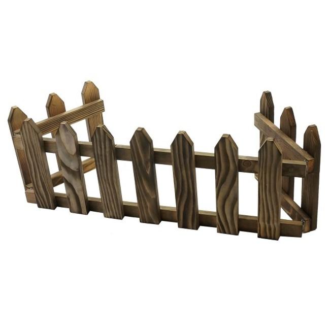 ㄇ型圍籬-燻木色109CM