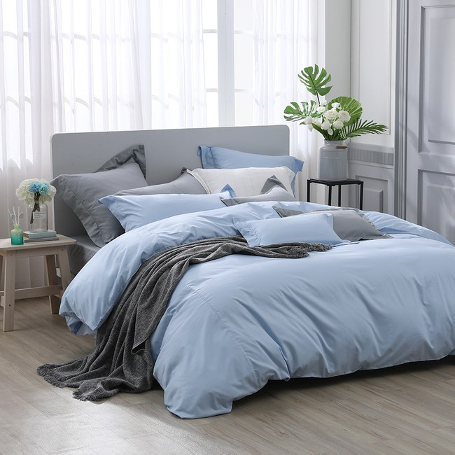 澳洲Simple Living 雙人天絲福爾摩沙被套床包組(天清藍)雙人