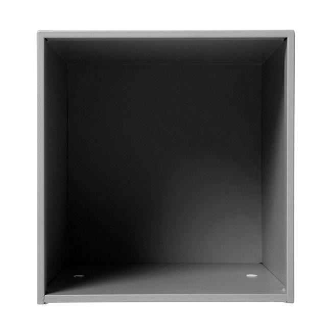 塔克-鐵製烤漆口字櫃 灰色