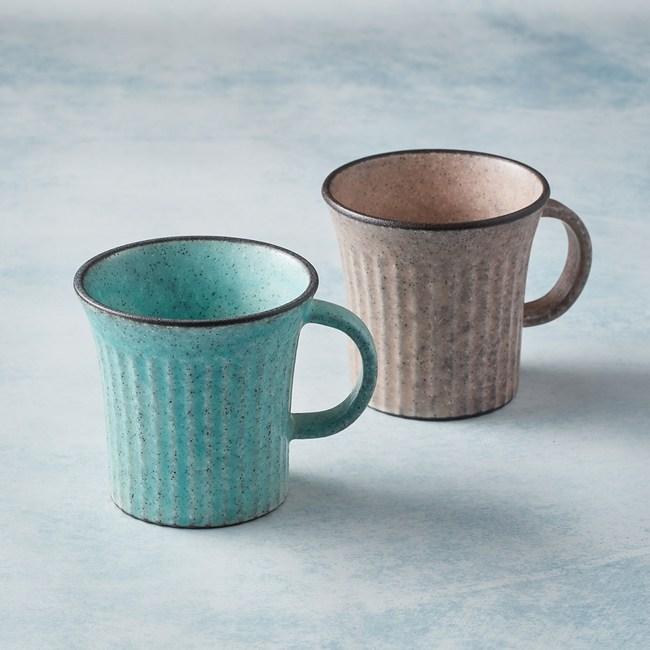 【有種創意】日本美濃燒 - 古典雕紋咖啡杯 - 對杯組(2件式)