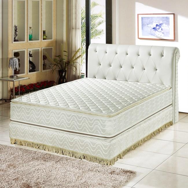 睡芝寶-正四線3M防潑水+護邊強化蜂巢式獨立筒床墊雙人5尺