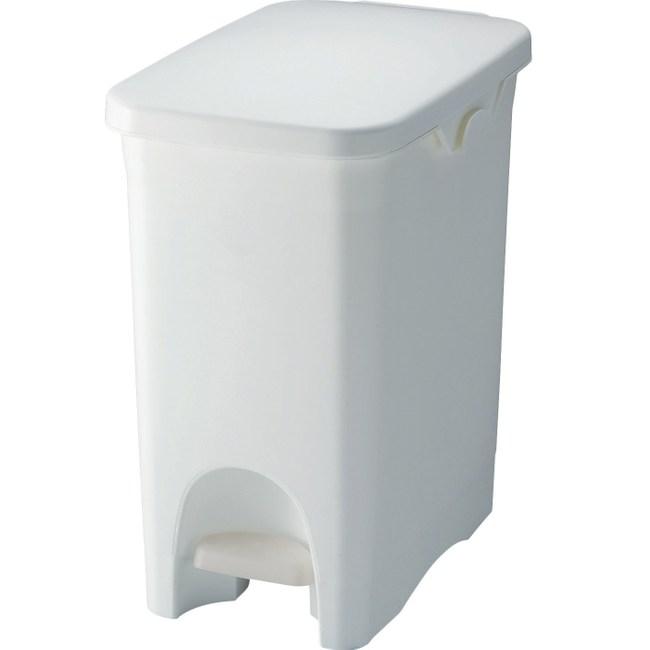 【日本RISU】SABIRO系列 腳踏式垃圾桶 20L - 白色