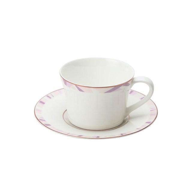 HOLA 索菲亞玫瑰金骨瓷杯碟组