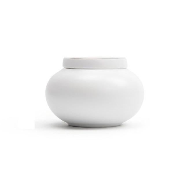 圓形茶葉罐-素白
