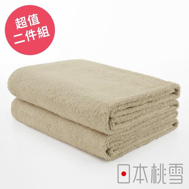 日本桃雪【飯店浴巾】超值兩件組 咖啡色