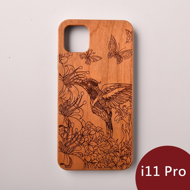 Woodu 木製手機殼 蜂鳥信念 iPhone 11 Pro適用