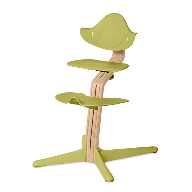 丹麥nomi 多階段兒童成長學習調節椅餐椅經典組-草綠草綠色