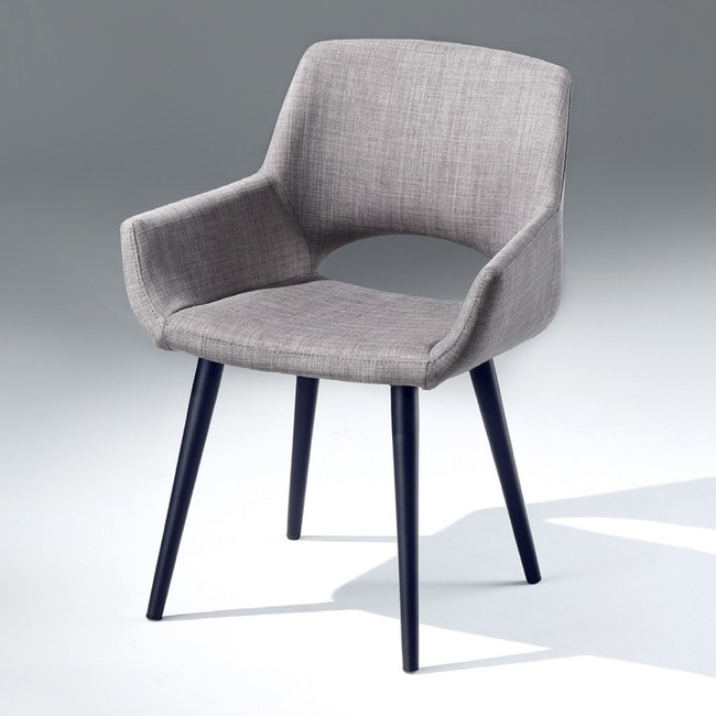 【YFS】波文餐椅-56x57x83cm(兩色可選)淺灰