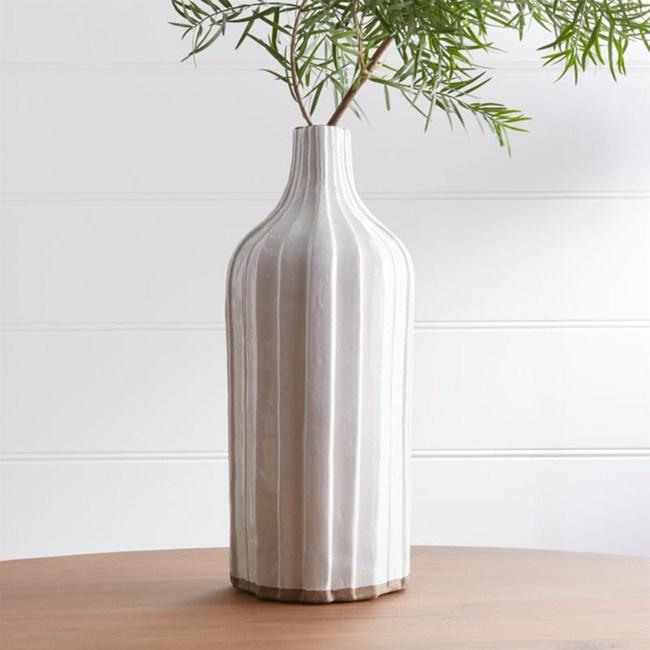 Crate&Barrel Faye 陶瓷花器 45cm