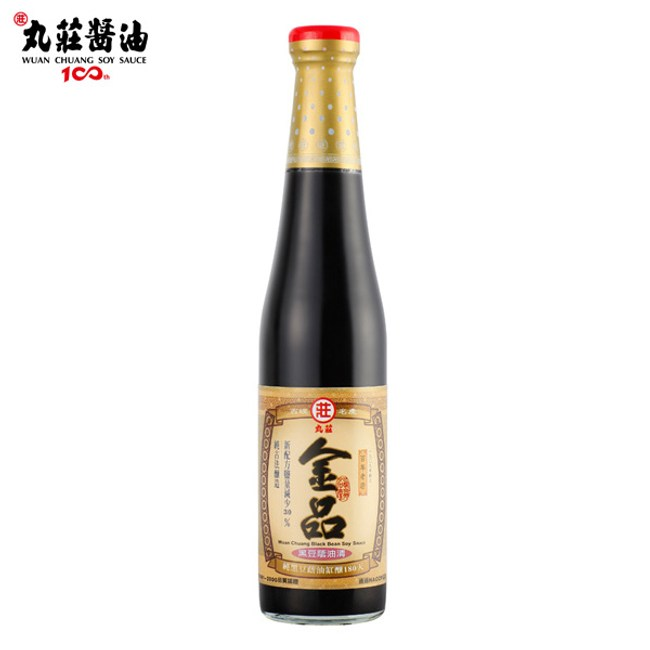 丸莊.金品黑豆蔭油清420ml/瓶 (共2瓶)