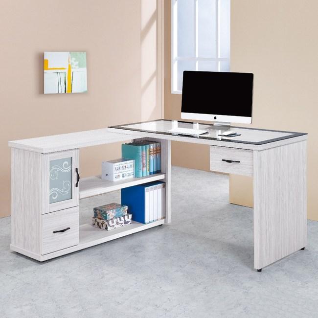 【YFS】洛伊絲4.4尺L型書桌-131.1x60x81cm