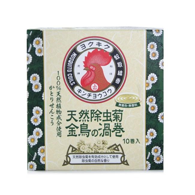 日本 KINCHO 金鳥天然除蟲菊蚊香(渦卷)10卷入x1盒