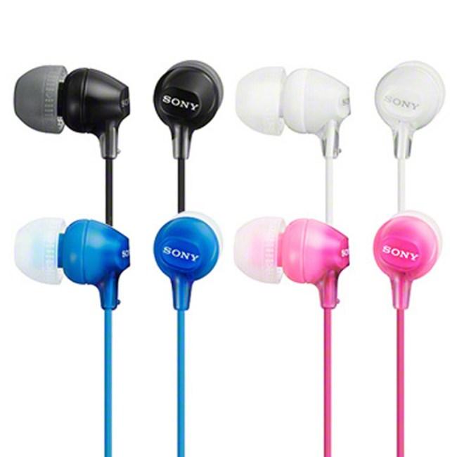 SONY  MDR-EX15LP  輕量型內耳式耳機(白色)