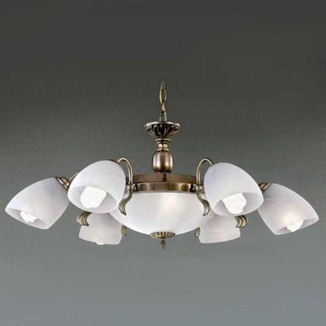 YPHOME 金屬玻璃吊燈六燈 S81222H