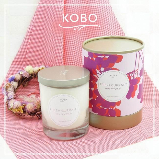 【KOBO】美國大豆精油蠟燭-清新醋葡萄-330g/可燃燒80hr