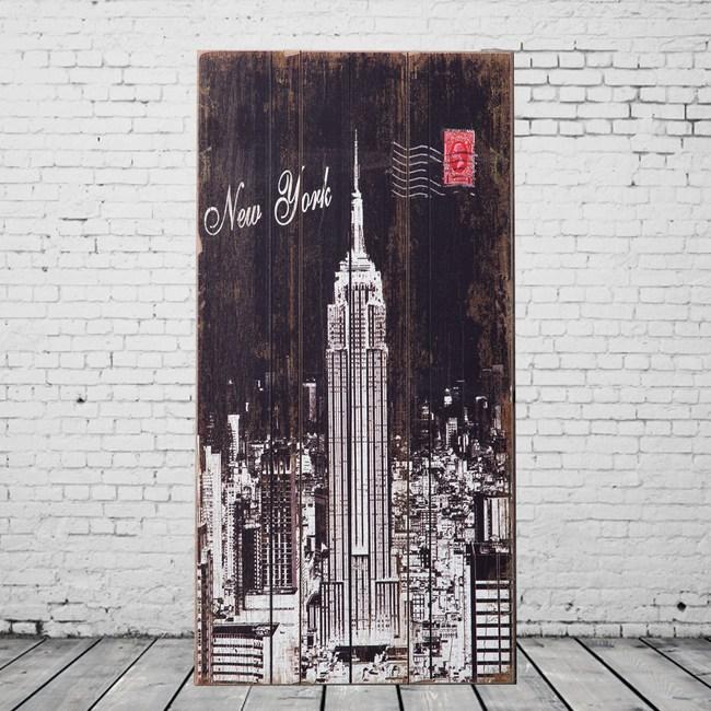 OPUS LOFT純真年代 30X60無框木板畫(美國帝國大廈)