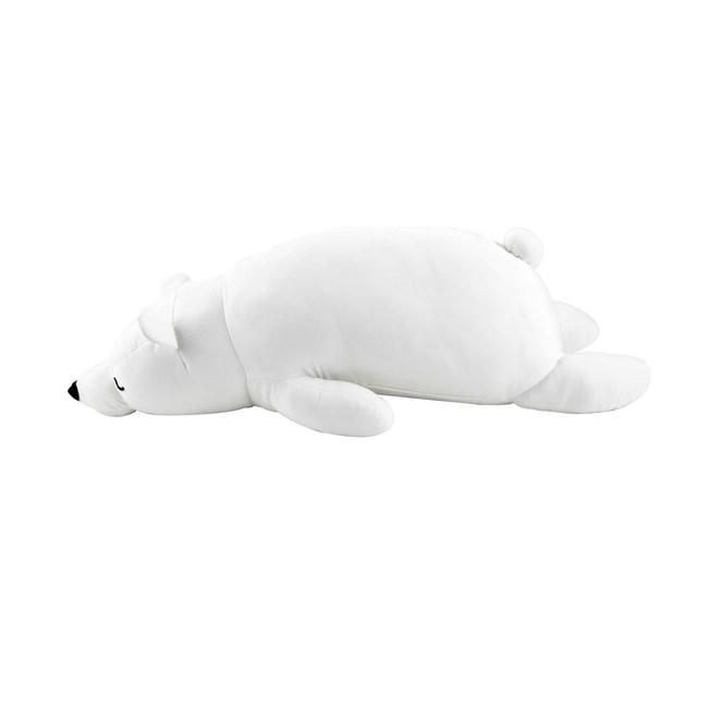 涼感造型抱枕60x20cm小白熊