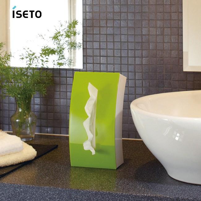 【nicegoods】日本ISETO Bow弧形雙面面紙盒 粉綠