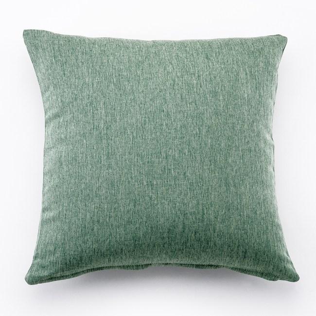 攸境仿麻素色抱枕 綠色