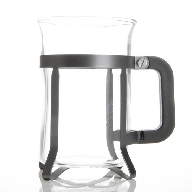義大利 Tracanzan 風尚玻璃馬克杯 灰色