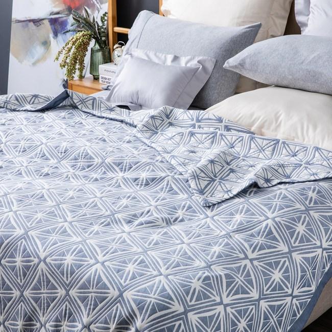 三重紗棉蓋毯 單人尺寸 菱格款