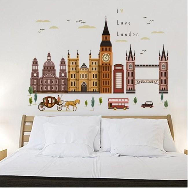 【Loviisa 古老建築】無痕壁貼 壁紙