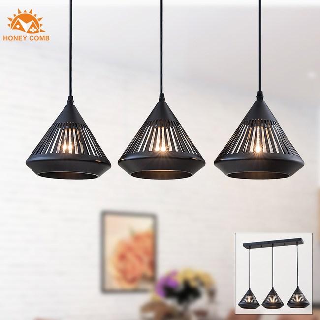 【Honey Comb】工業風餐廳長型三吊燈(MK528-113)