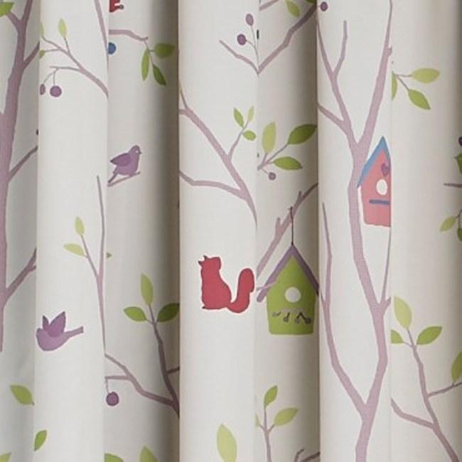 童繪森林三明治防螨抗菌印花遮光窗簾 0.2x200x165cm