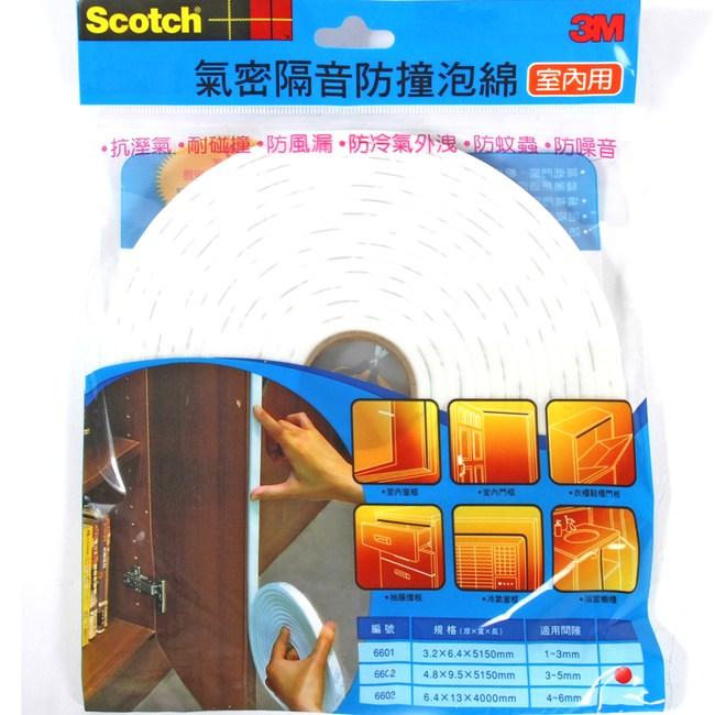 3M 室內隔音防撞泡棉6002(適用間隙3~5mm)