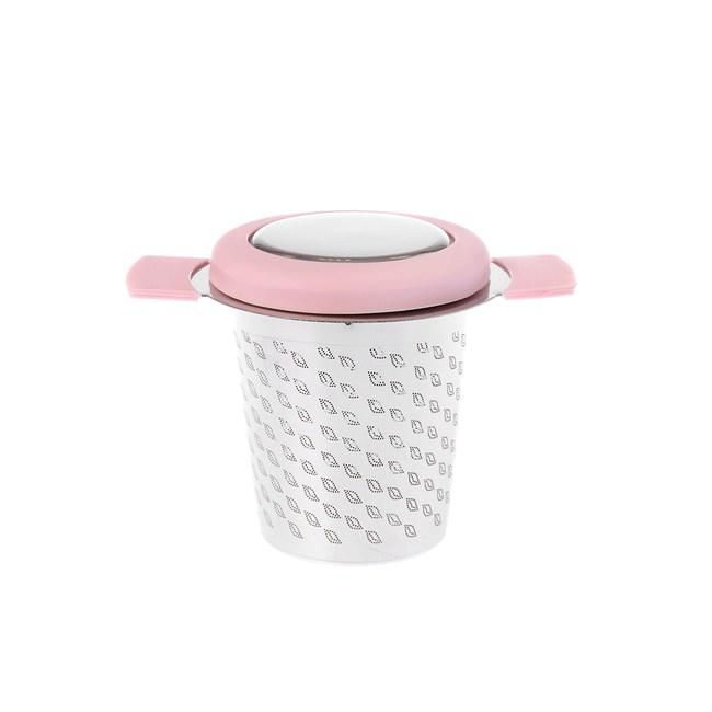HOLA 不鏽鋼矽膠蓋濾茶器 粉