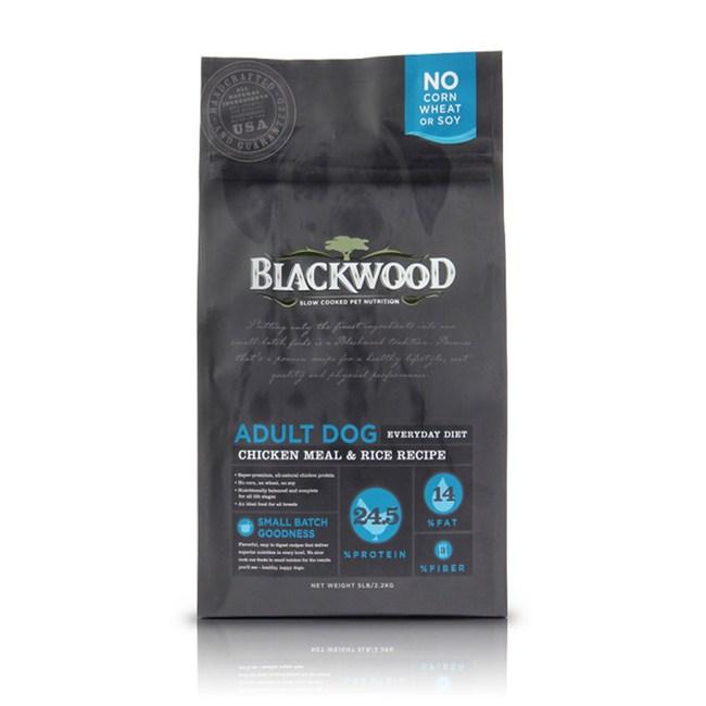 【BLACKWOOD】柏萊富特調成犬活力配方雞肉+糙米-5磅
