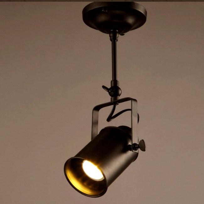 【光的魔法師 】現代工業復古軌道燈背景牆燈酒吧(長桿LED客廳射燈)