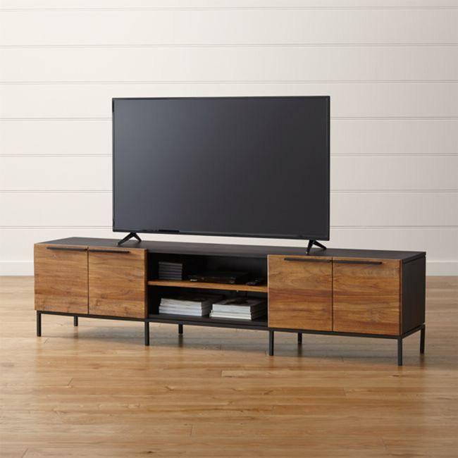 (組)Crate&Barrel Rigby 電視櫃 附架 204cm