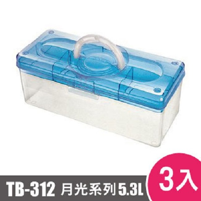 樹德SHUTER月光系列手提箱312型TB-312 3入藍