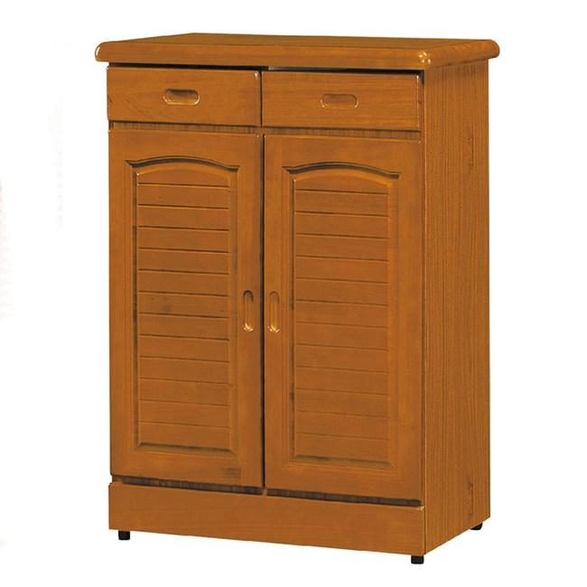 【YFS】喬伊絲百葉3尺鞋櫃-84x37x107.5cm(三色可選)柚木色