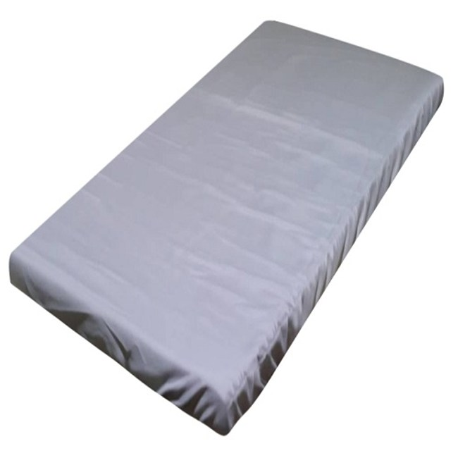 日系素色薄床墊套灰 單人